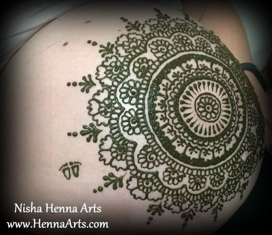 babyshower henna for expecting mother