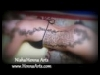 Henna design on various body parts covered and uncovered