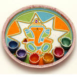 Diwali the festival of lights how to celebrate diwali for Aarti dish decoration
