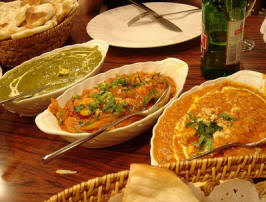 Spicy curry and naan of India