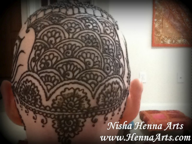Henna crown Indian pattern