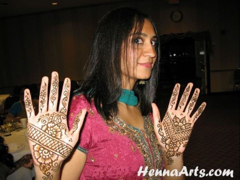 Don't come close, I have some henna on my hands