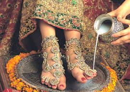 dulhan anklet, payal, toe-ring and bichua