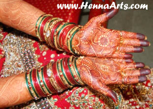 dulhan menhndi designs and indian bangles