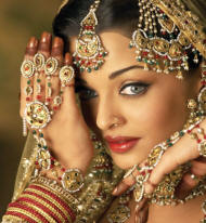 bride hathphool with rings and bracelets