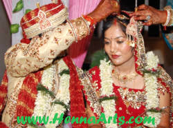 Indian bride - sindoor - the symbol of suhag